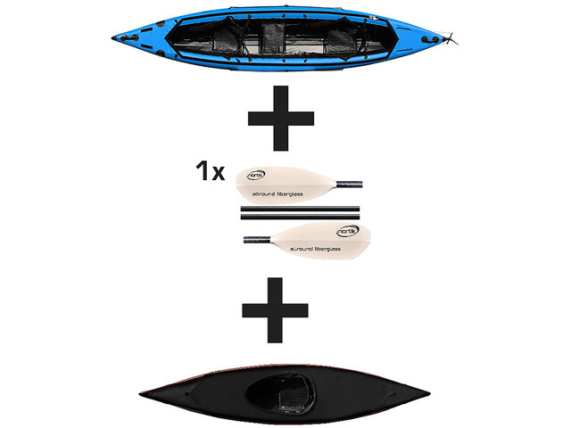 nortik Scubi 1 XL Kayak paquete jubileo, blue/black